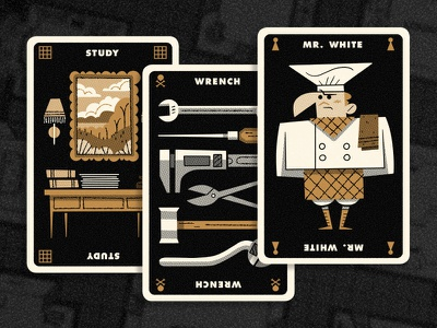 Clue Results andrew kolb kolbisneat illustration limited palette personal project board game cluedo clue