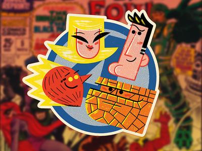 Fantastic Four Sticker (again)