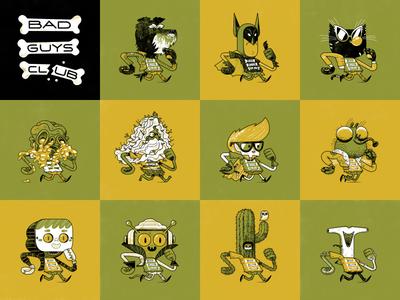 Bad Guys Club 12–22 andrew kolb kolbisneat illustration drawing challenge bad guys club
