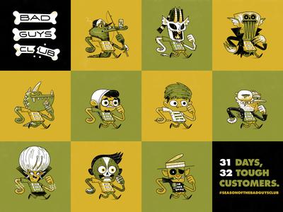 Bad Guys Club 23–32 andrew kolb kolbisneat illustration drawing challenge bad guys club