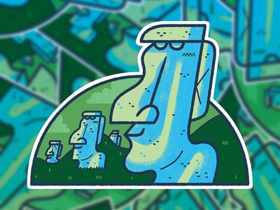 Easter Island Sticker