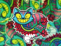 Cheshire Sticker
