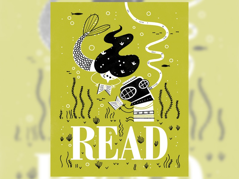 Read Poster 3 andrew kolb kolbisneat illustration poster limited palette reading is rad artists for education
