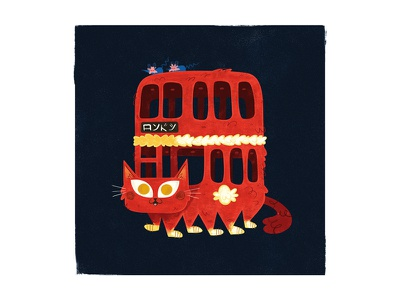 London Catbus andrew kolb kolbisneat illustration my neighbor totoro studio ghibli miyazaki