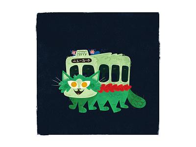 New York Catbus andrew kolb kolbisneat illustration my neighbor totoro studio ghibli miyazaki