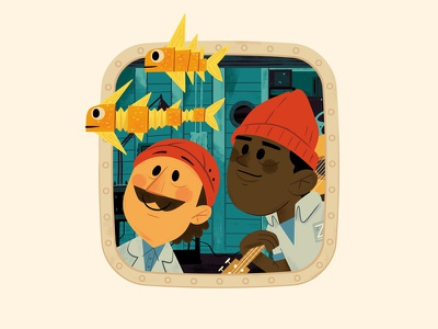 Views from the Belafonte - 3 andrew kolb kolbisneat illustration kids book picture book the life aquatic steve zissou wes anderson
