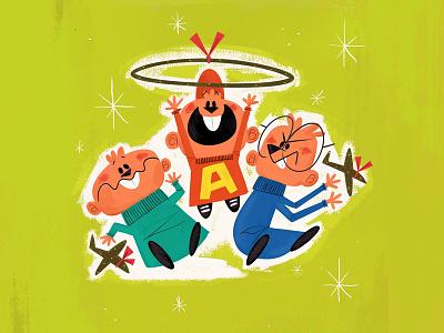 Chipmunks andrew kolb kolbisneat illustration holidays christmas hula hoop theodore simon alvin alvin  the chipmunks