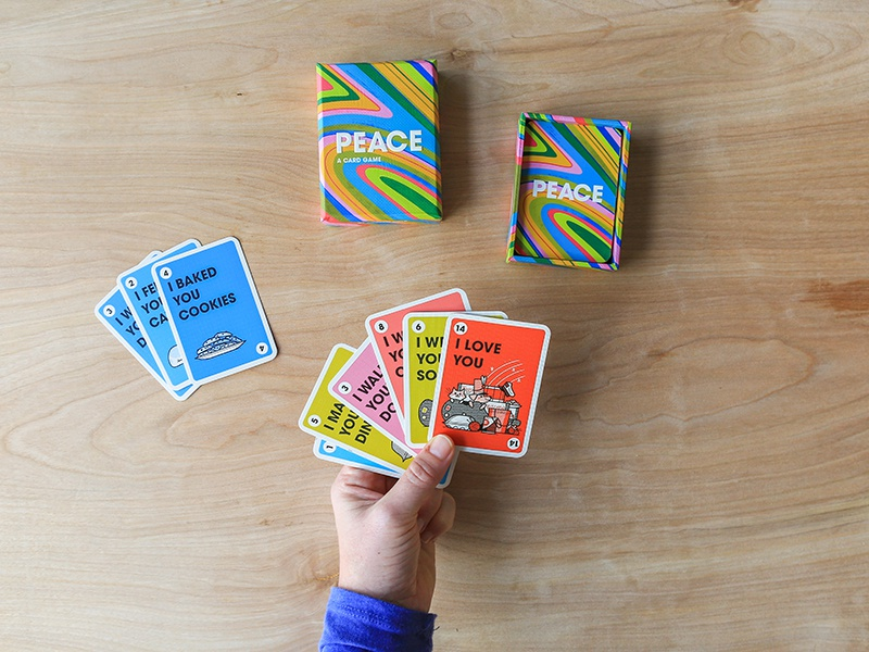 PEACE: A Card Game in action kolbisneat andrew kolb illustration card game peace