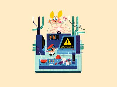 Tiny Lab andrew kolb kolbisneat illustration miniature cartoon network dexters lab