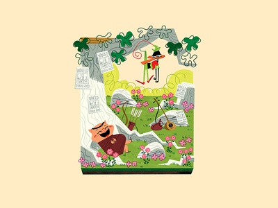 Tiny Sherwood Forest andrew kolb kolbisneat illustration miniature warner bros. robin hood porky pig daffy duck looney tunes
