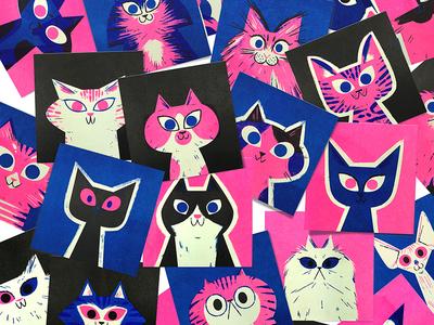 Risograph Cats!