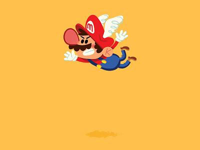Take Flight! andrew kolb kolbisneat illustration nintendo mario 64 mario