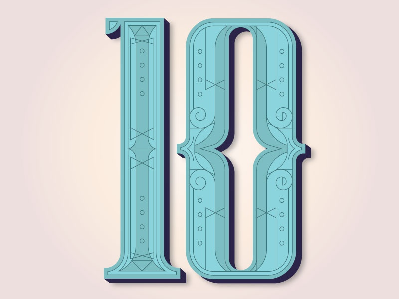 The 10 Issue type numerals ten editorial print