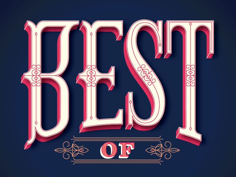 Best of... editorial type print lettering
