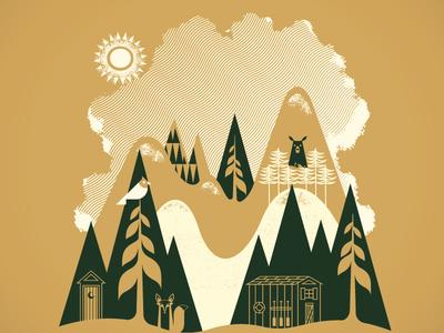 It's Nature invites bear fox cabin stuff prints