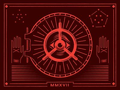 Vault WIP tarot illustration