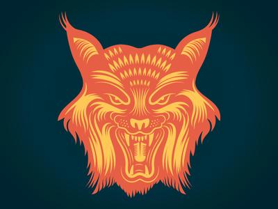 Lynx lynx cat illustration