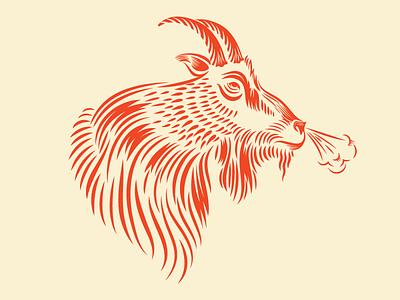 Old Goat print alaska illustrations