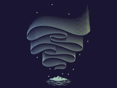 Aurora Borealis illustration aurora borealis
