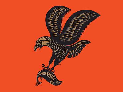 Eagles Forever alaska fish illustration eagle