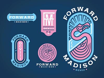 Forward FC monogram flamingo illustration soccer