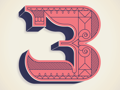 TYPE FIGHT!  fight type numbers typography
