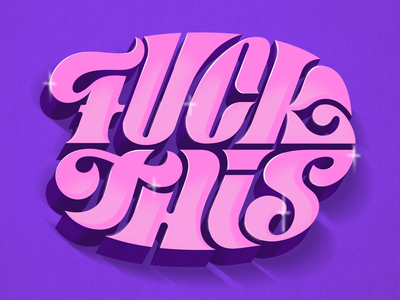 F@#*! This sparkles lettering customtype type