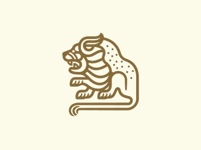 New Day lion lion logo logo mark illustration