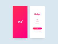 mo' - login screens