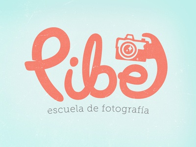 Pibe photo shot logo school class camera vintage retro click photography