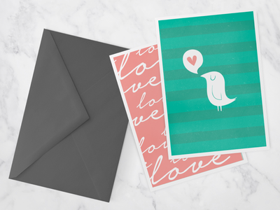 Greeting Cards MockUp a7 marble store invitation envelope event wedding anniversary baby shower party celebration