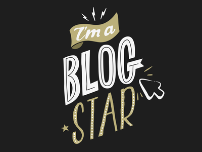 Blog Star blog blogger star rock thunder arrow hand typography black logo insignia