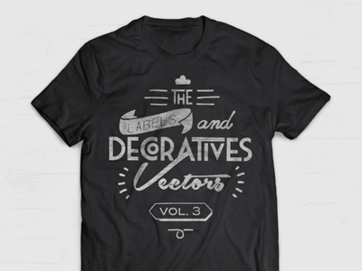 Decorative Vectors vol. 3 vectors labels decoration insignia logo vintage handmade lettering typography shirt black