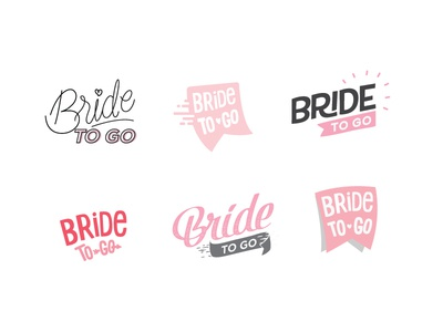 Logo - Bride to Go Blog logo bride wedding fun pink flare light label badge blog blogger planner