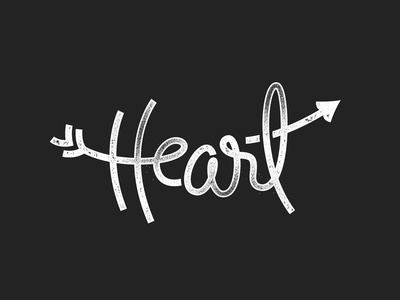 The Heart heart love lettering hand hand draw type calligraphy typography valentines gunge