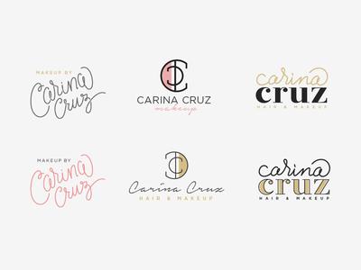 Carina Cruz - Logo makeup hair stylist branding logo instagram ig id hand lettering handmade handwriting