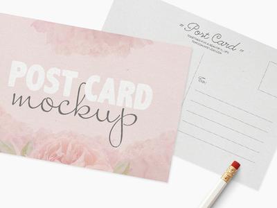 Post Card · Mockup