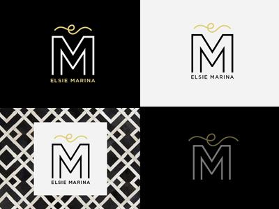 Elsie Marina · Logo magazine design interior glam styled fashion blogger blog instagram id branding logo