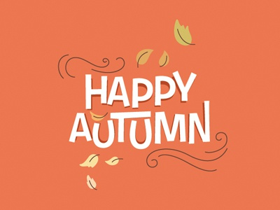 Happy Autumn postcard