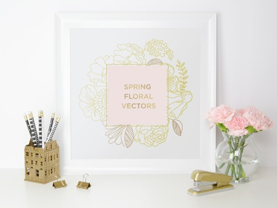 Spring Floral Vectors illustration event party invitation wedding garden tulip rose flowers floral spring vector