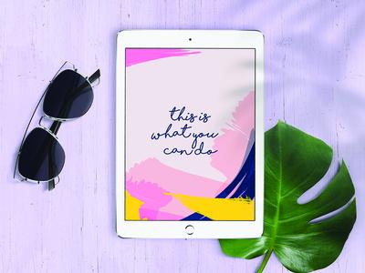 Summer iPad Mockup