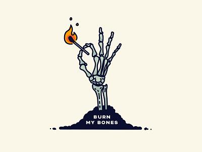 Burn My Bones music match bones skeleton texture illustration