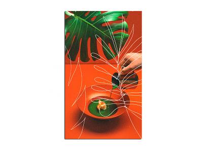 inspo tropical retro cover design cover art design