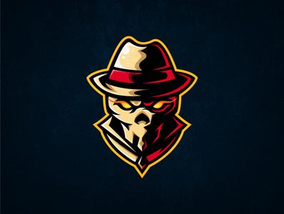 Mafia skull e-sport logo