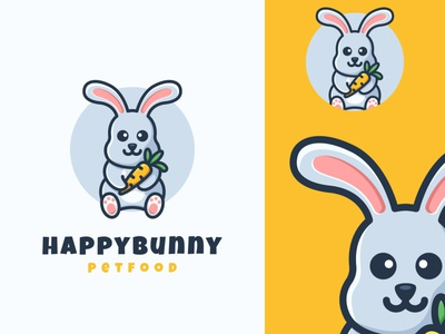 bunny mascot cartoon logo rabbit bunny identity branding vector illustration design logo logoanimal