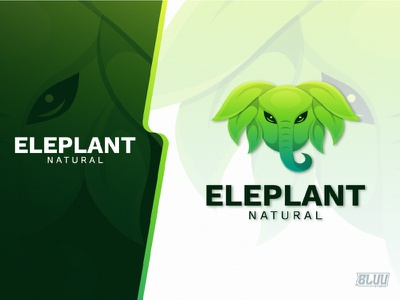 Eleplant Natural logodesign nature wild elephant gradient design illustration design logotype logoanimal branding graphicdesign logo