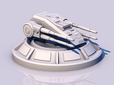 Quad Turbo Laser 3d turbo laser 3dmodel rendering render design 3drender 3dmodelling 3dart 3dgraphics cinema-4d cinema 4d c4d star wars
