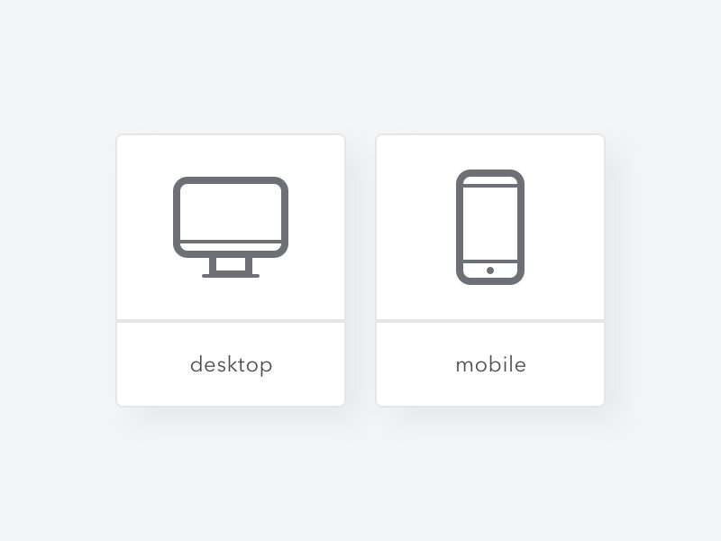 Desktopmobile icons
