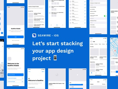 SeaWire iOS UI Kit uiux design design project wireframekit wireframe ios native apps mobile mobile apps native ios ui kit