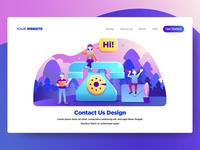 Contact Us Illustration for Website Page